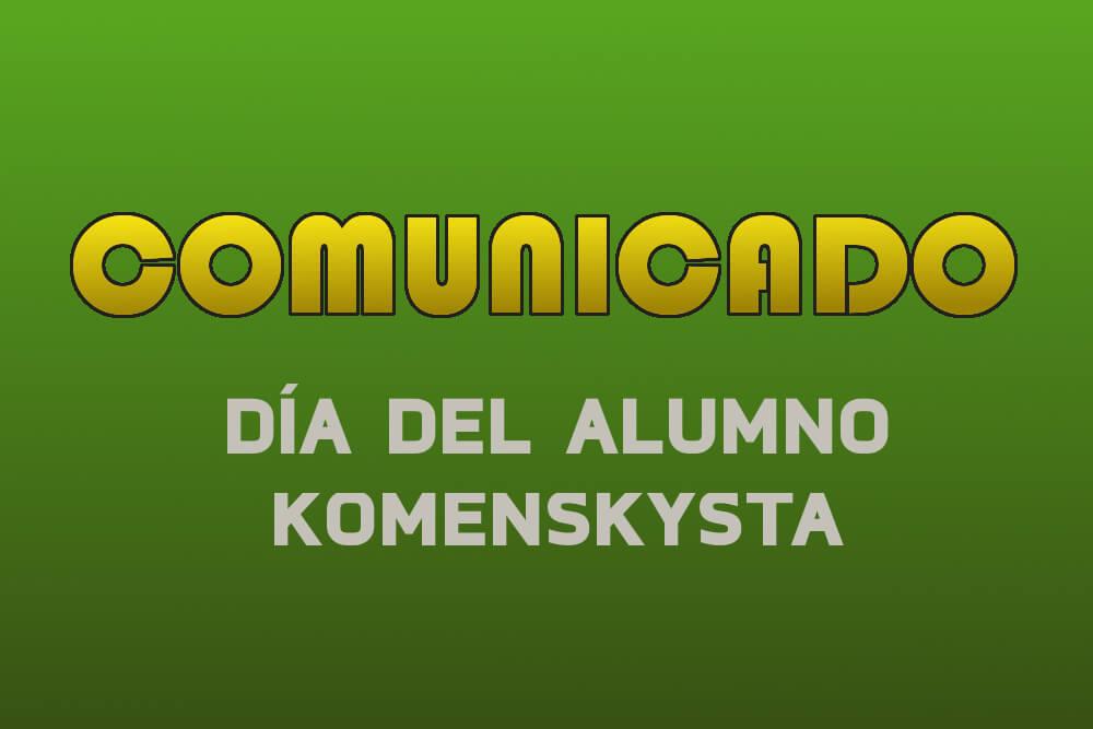 Comunicado por el día del alumno komenskysta